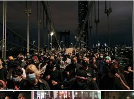 شاهد عمليات نهب وسلب تستغل احتجاجات مدينة نيويورك