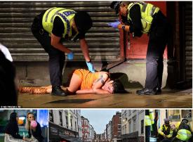 بالصور، الشرطة البريطانية تؤكد: تعاطي الكحول يفشل التباعد الاجتماعي