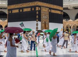 شاهد الحجاج يؤدون طواف القدوم في المسجد  الحرام