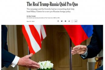 الرئيس الأمريكي يقاضي صحيفة نيويورك تايمز بداعي القذف