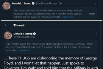تويتر  يتهم ترامب بتمجيد العنف