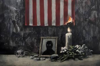شاهد بانكسي وغيره ينتجون أعمالا فنية مستوحاة من جريمة قتل جورج فلويد