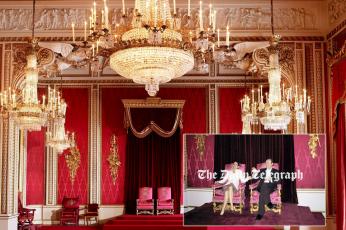 """تسريب صورة تثير جدلا لـ """"مدام ماكسويل"""" تجلس على العرش البريطاني"""