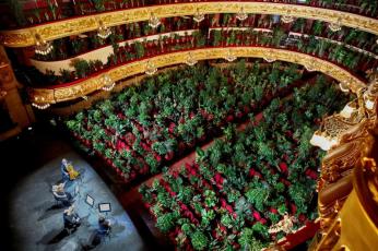 شاهد حضور 2292 نبتة أول حفل أوبرا برشلونة