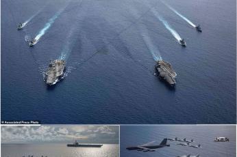 ارتفاع التوتر بين الصين والولايات المتحدة مع وصول حاملة طائرات الأسطول السابع رونالد ريجان
