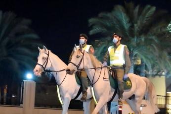 """خلال 25 دقيقة """"فارسان من خيالة شرطة دبي"""" يضبطان شابا سرق سيارة"""