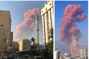انفجار  مستودع ألعاب نارية يهز بيروت