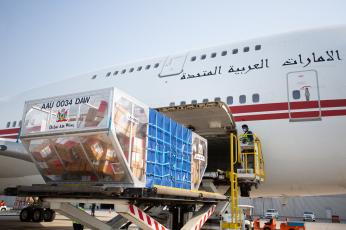 الإمارات ترسل 30 طناً من الإمدادات الطبية إلى لبنان