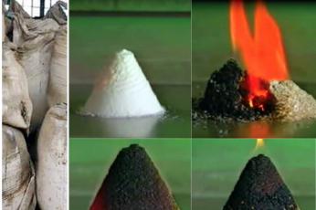 شاهد لقطات تظهر صعوبة حرق مادة نترات الأمونيوم