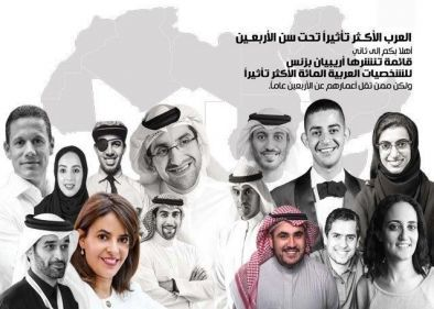 قائمة الشباب العرب الأكثر تأثيراً في العالم تحت سن 40