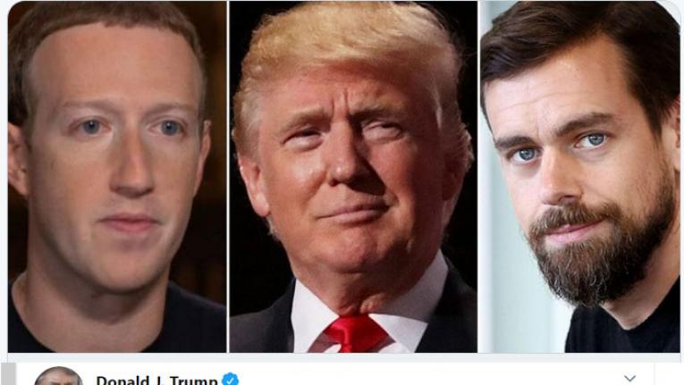 انخفاض أسهم تويتر وفيسبوك وصعود غوغل عقب إلغاء ترامب للحماية قطاع التواصل الاجتماعي