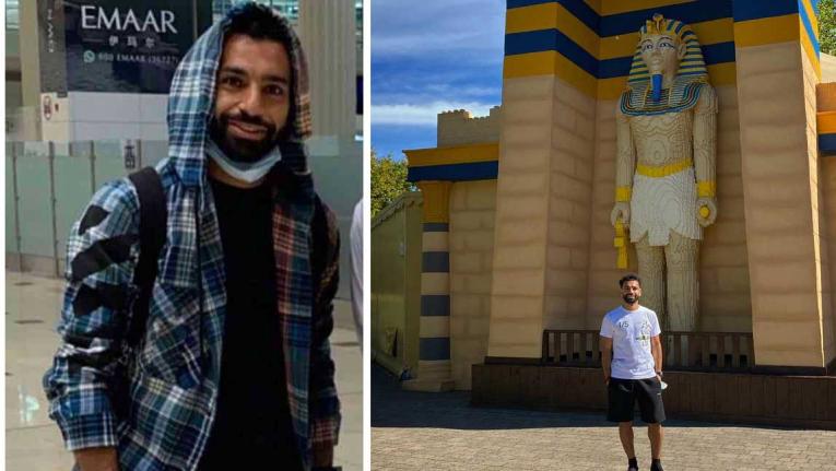 لاعب الكرة المصري محمد صلاح يقضي اجازته في دبي