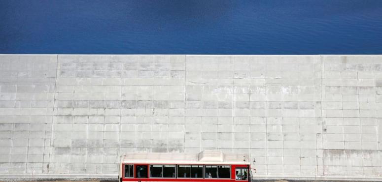 """بالصور: اليابان تبني جدارا عملاقا بمحاذاة البحر لحمايتها من """" تسونامي """""""