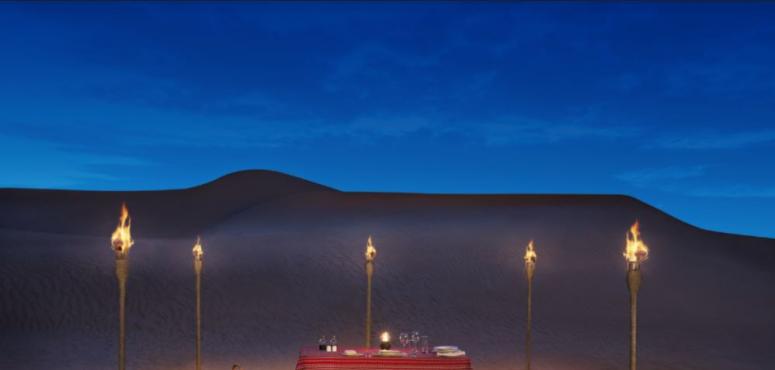 منتجع وسبا المها الصحراوي يوفّر تجارب طعام حصرية وفاخرة تحت ضوء القمر