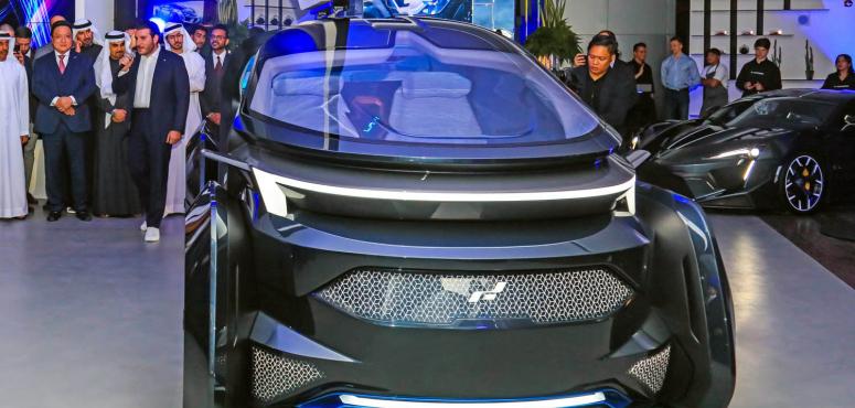 شاهد أول سيارة إماراتية ذاتية القيادة