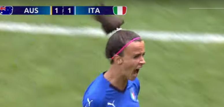 شاهد لاعبة المنتخب الإيطالي تقلب نتيجة المباراة أمام سيدات أستراليا  في مونديال فرنسا