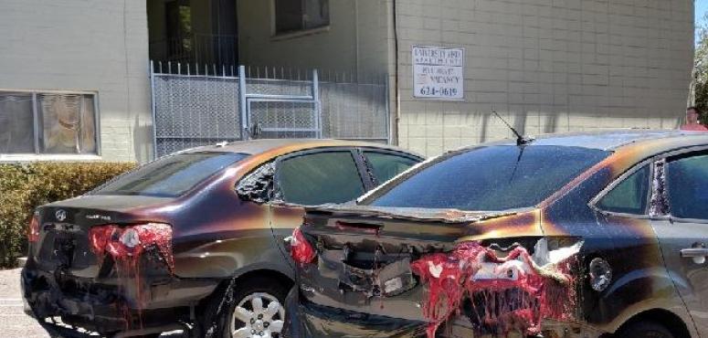 """إعادة نشر صور سيارات """"سعودية"""" تعرضت مصابيحها للذوبان بزعم ارتفاع درجات الحرارة"""