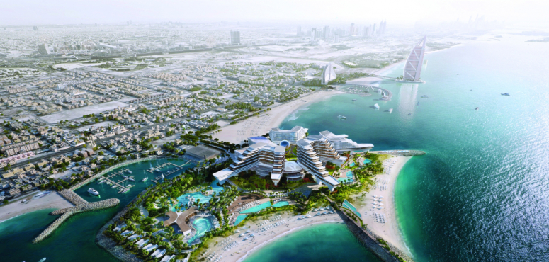 شاهد.. ولادة جزيرة جديدة في دبي