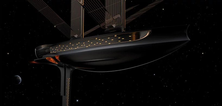 بالصور : أول قارب شراعي للفضاء ثلاثي الأبعاد في الفضاء