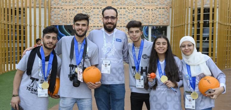 فريق الأمل للاجئين يفوز ببطولة فيرست جلوبال بدبي