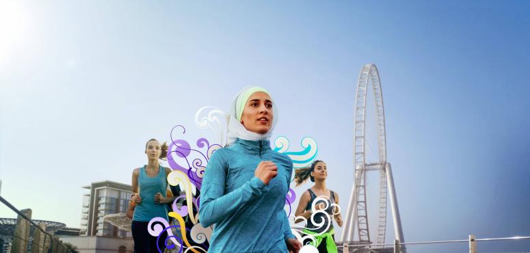 «بلوواترز» مركز لنشاطات الصحة والعافية من أجل تحدي دبي للياقة