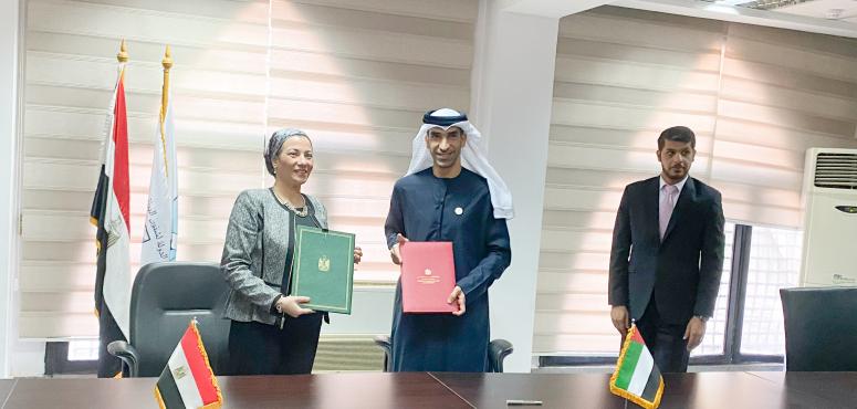 الإمارات ومصر توقعان مذكرة تفاهم للبرنامج التنفيذي الأول في حماية البيئة