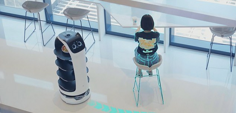 اكتشف كيف ستصلك  الأطباق في مطعم الروبوت
