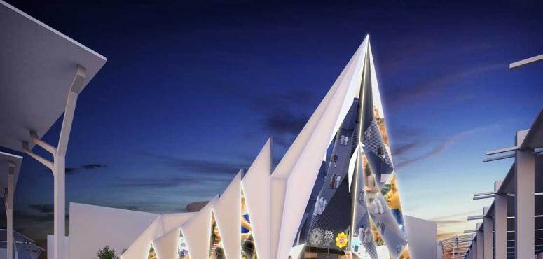 شاهد تصميم مبدع إماراتي لجناح إكسبو لايف