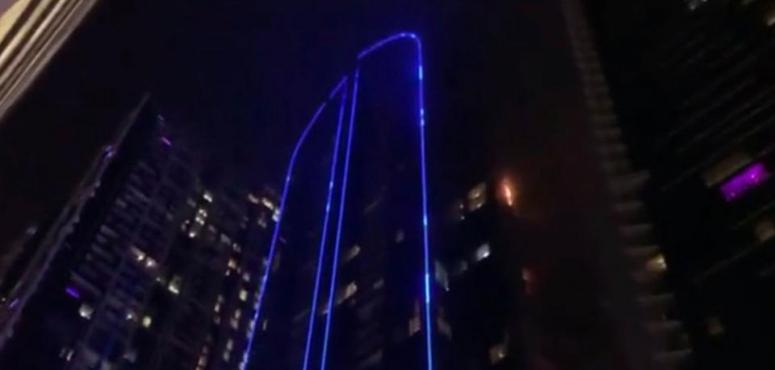 دبي.. أكثر من 300 ساكن يعودون إلى شققهم في برج دجى بعد حريق