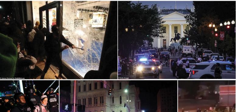 شاهد رياح الربيع العربي تعصف بالمدن الأمريكية مع صدامات مع الأمن وعمليات التخريب