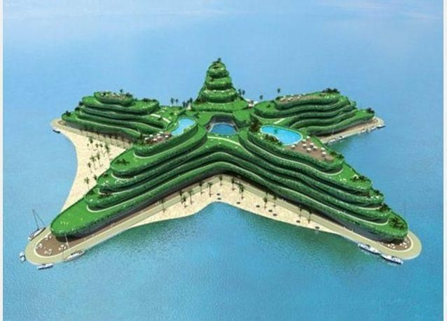 بالصور: جزر اصطناعية للعب الغولف في المالديف