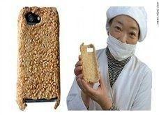 """حافظة """"أي فون"""" من الأرز تصلح للأكل!"""