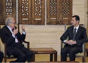 الابراهيمي اجتمع مع الاسد للبحث عن حل للأزمة السورية
