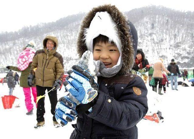 بالصور: مهرجان الجليد في كوريا الجنوبية