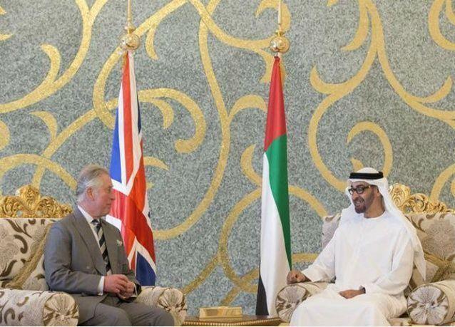 محمد بن زايد ولي عهد أبوظبي يستقبل الأمير تشارلز