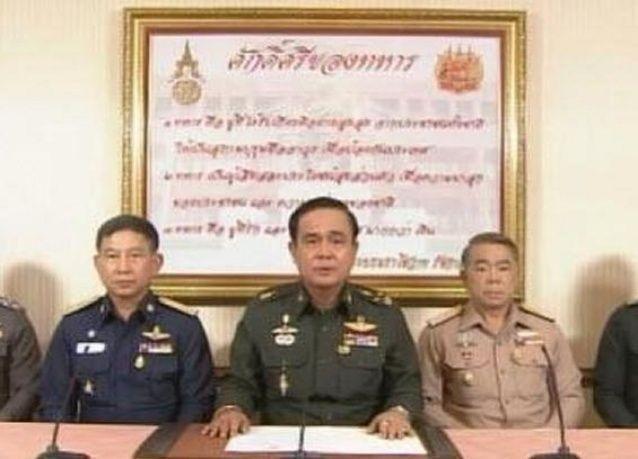 قائد الجيش في تايلاند يعلن سيطرته على الحكم