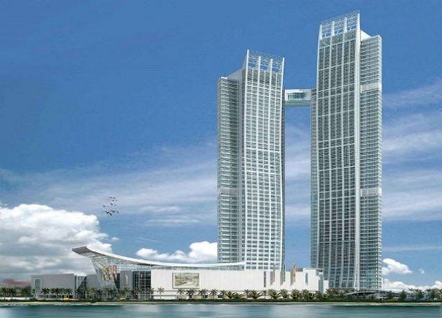 بالصور: افتتاح أعلى جناح فندق معلق في العالم بأبوظبي