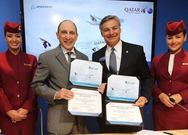 بوينج والخطوط الجوية القطرية تبرمان اتفاقية لشراء 50 طائرة