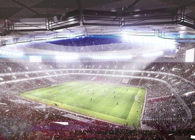 """بالصور: قطر تكشف عن تصميم استاد """"جوهرة الصحراء"""" رابع الملاعب المرشحة لإستضافة كأس العالم"""