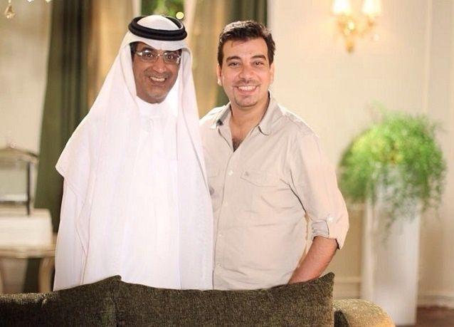 """بالصور: فريق عمل """"سيلفي"""" مع ناصر القصبي"""