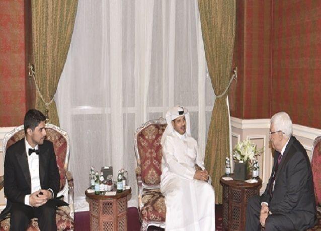 بالصور: زفاف حفيد محمود عباس بالدوحة