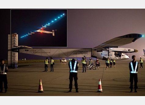 سولار إمبالس 2، الطائرة التي تعمل بالطاقة الشمسية تقلع من اليابان لتعبر المحيط الهادي