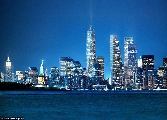 """بالصور: الكشف عن تصميم """"الإعصار"""" لبرجي مركز التجارة العالمي في نيويورك"""