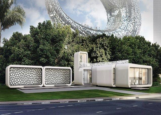 بالصور: أول بناء مكاتب بتقنية الطباعة ثلاثية الأبعاد بالعالم في دبي