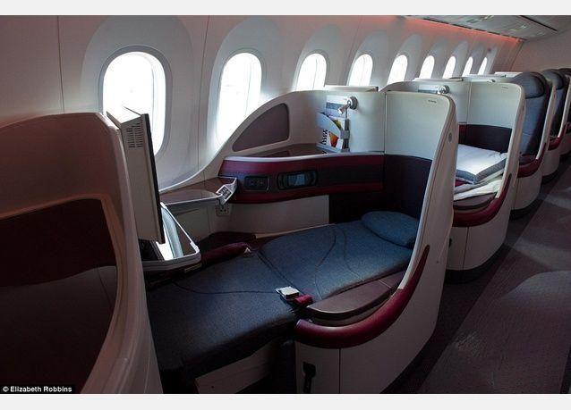 بالصور: طائرات الخطوط الجوية القطرية تضاهي فنادق الخمس نجوم