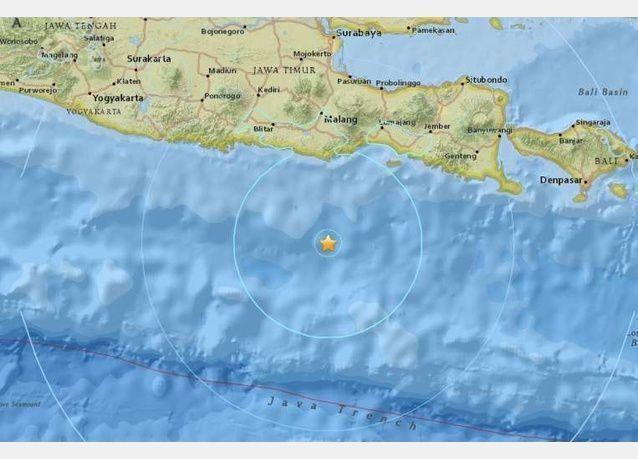 زلزال قوته 7 درجات يضرب إندونيسيا