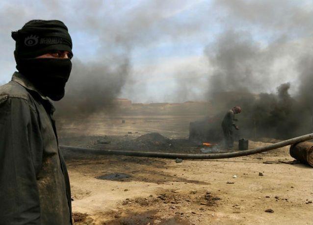 داعش يفجر بئرا للنفط شمال العراق