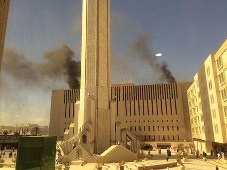 اندلاع حريق في مبنى التلفزيون السعودي