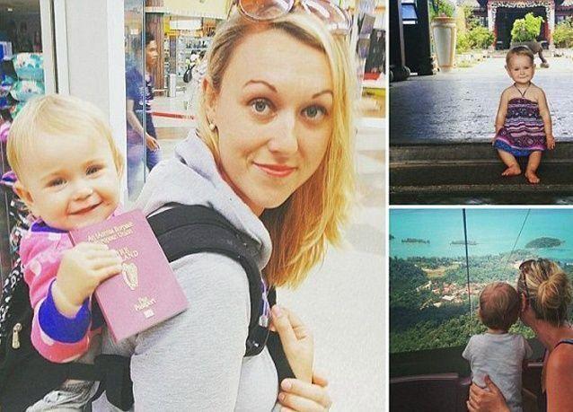 ما رأيك بإجازة الأمومة في جولة حول العالم؟ بالصور: ممرضة تأخذ رضيعتها في جولة