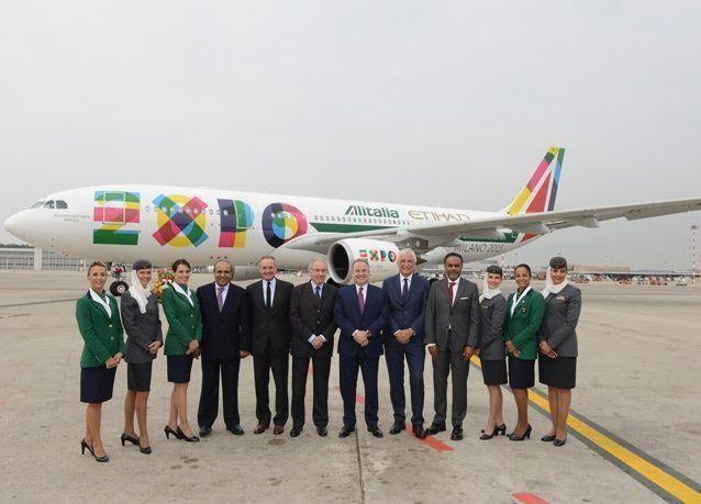 كشف النقاب عن طائرتين ستحملان رسالة معرض إكسبو ميلانو 2015 إلى ربوع العالم